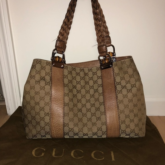 5a9252f0c4b195 Gucci Bags | Bag With Braided Handle Sold With Wallet | Poshmark